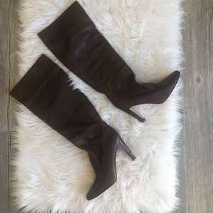 Michael Kors Brown Leather Boots made in Italy
